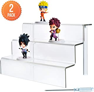Acrylic Risers (2-Pack) 3-Tier Shelf, 9 x 6.25 Inches (WxL)
