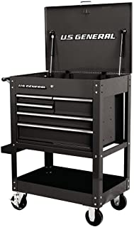 30 in. 5 Drawer Mechanic's Tool Cart Cabinet - Black