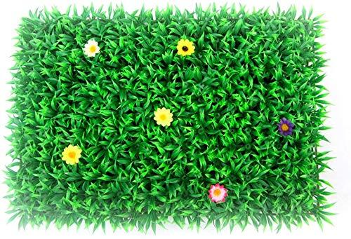 Giow Alfombras Césped Artificial Alfombra de césped de Flores Falsas de plástico Césped de simulación Vestido de Novia de Navidad Valencia (Color: Verde, Tamaño: 40 * 60 cm)