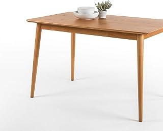 ZINUS Jen Mesa de comedor de madera de 120cm   Mesa de cocina de madera maciza   Montaje sencillo, natural