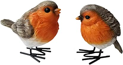 Qube PVC Bird Decor For Garden,Stakes Decorations Outdoor 3D Lawn Decorative Yard Decor Patio Accessories Ornaments PVC Gardening Art Christmas Whimsical Gifts,Waterproof Bobbing Bird Dancing 20cm