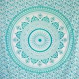 MOMOMUS Tapiz Mandala Sol - 100% Algodón, Grande, Multiuso - Pareo/Toalla de Playa Gigante -...