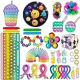 QASIMOF Cheap Fidget Toy Set, Simple Fidget Toy Set, Cheap Fidget Pack, Sensory Fidget Toy Pack for Kids Adults (Fidget Set 4)