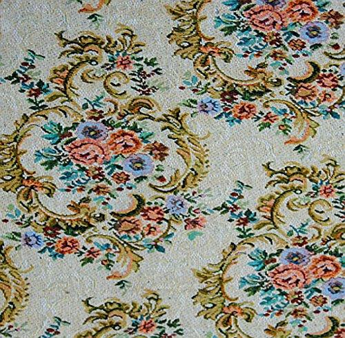 Gobelin Stoff Fleur Glamour METERWARE Breite 150 cm Rose Blumen Gardinenstoff Dekostoff Jacquard...