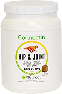 In Clover Connectin Hip and Joint Supplement for Dogs. Combines Glucosamine, Chondroitin and Hyaluronic Acid with Herbs fo...