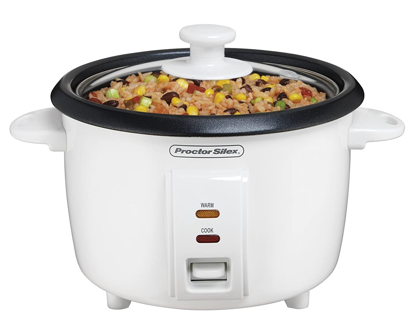 Proctor Silex 37534NR Rice Cooker, 8 Cups Cooked, White