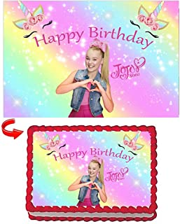 Jojo Cake Topper Sheet Edible Frosting Photo with Icing Sugar Paper 8.5 x 11.5 inches jojo cake decoration jojo birthday cake topper edible for jojo party supplies