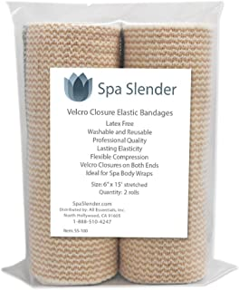 Spa Slender Body Wrap Elastic Bandages Latex Free (Pack of 2)