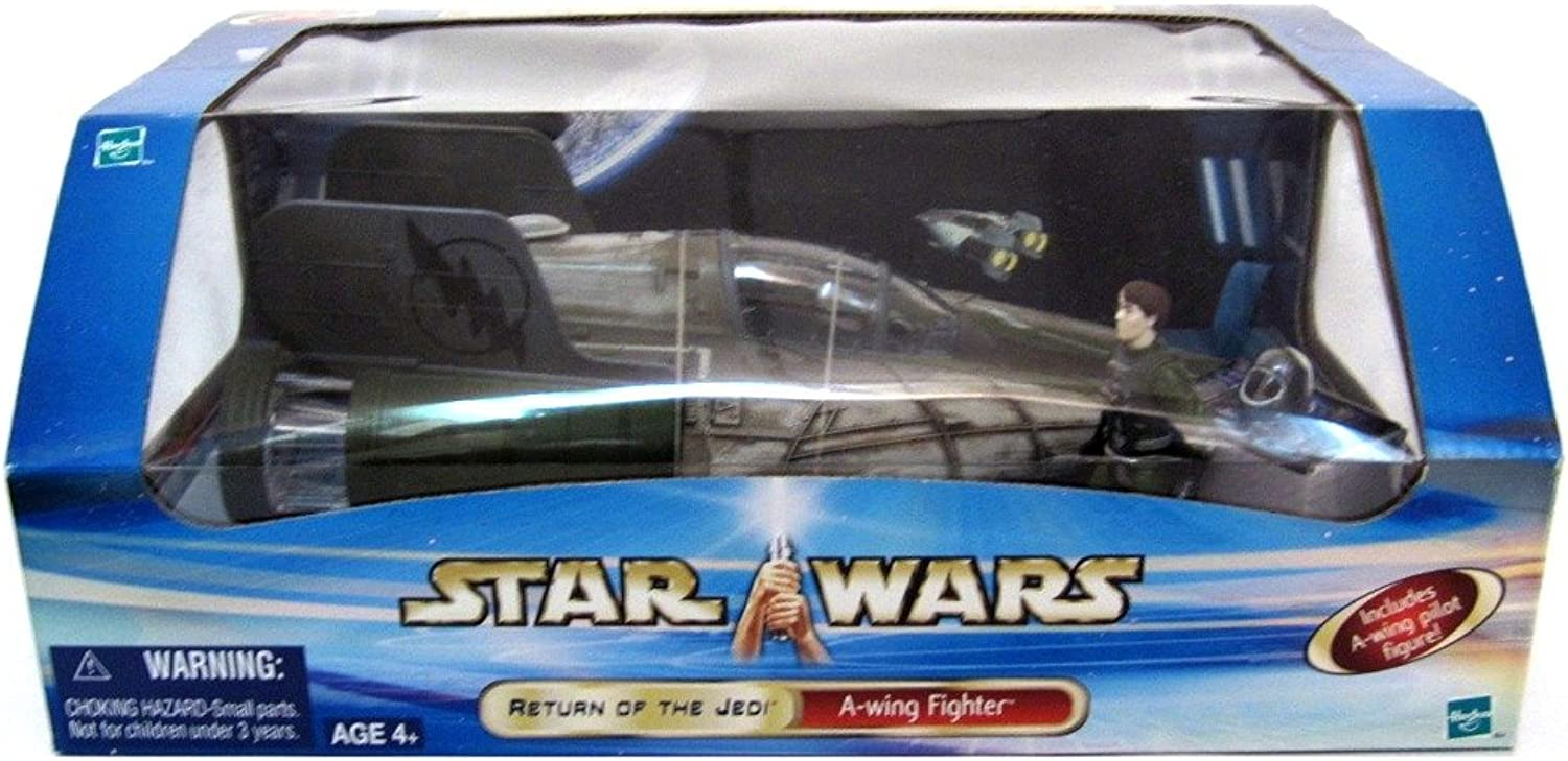 Hasbro AWing Fighter Ship Star Wars Return of the Jedi with Pilot Starfighter