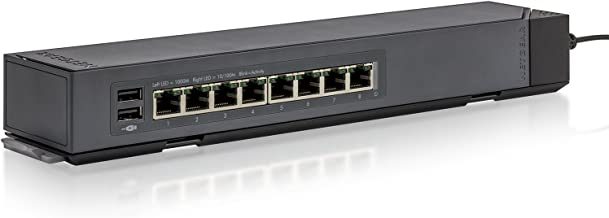 NETGEAR 8-Port Gigabit Ethernet Smart Managed Plus Switch (GSS108E) - with Virtually Anywhere CLICK Mount System, and ProS...