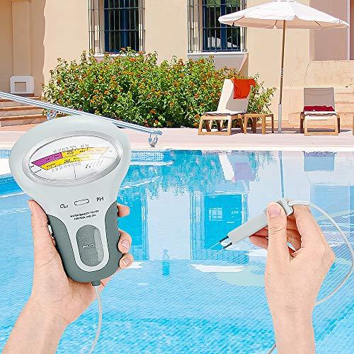 Tonver pH-Messgerät, tragbar, Chlor und pH-Wert, Wasserqualität, Messung, Wasserdetektor, Test-Set für Schwimmbad, Spa Wasser, Wasserfeder, Whirlpool, Aquarium