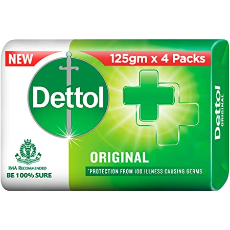 Dettol Original Germ Protection Bathing Soap bar, 125gm (Pack of 4)