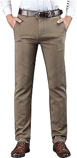 SellerFun Men Big Boy Daily All Seasons Casual Chino Plain Flat Front Straight Pants Trousers