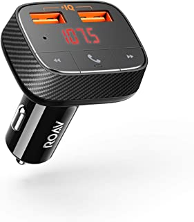Anker Roav SmartCharge F0 Bluetooth FM Transmitter for Car, Audio Adapter and Receiver,..