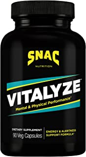 Sponsored Ad - SNAC Vitalyze Mental Alertness and Physical Performance Energy Enhancer, 90 Capsules