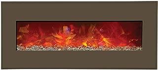Amantii Advanced Series Wall Mount/Built-In Electric Fireplace with Modern Auburn Steel Surround, 43 Inch (WM-BI-43-5123-MODERNAUBURN)