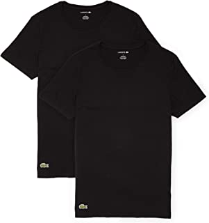 Lacoste Men's Casual Classic Cotton Stretch 2 Pack Crew Neck T-Shirts