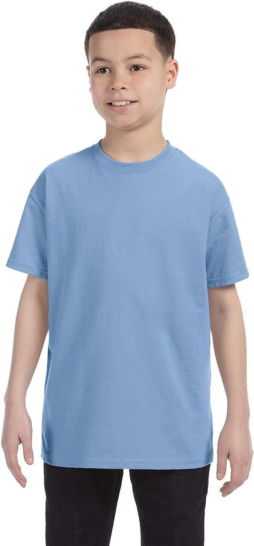 Hanes Youth 61 oz Tagless T-Shirt - LIGHT BLUE - XS - (Style # 54500 - Original Label)