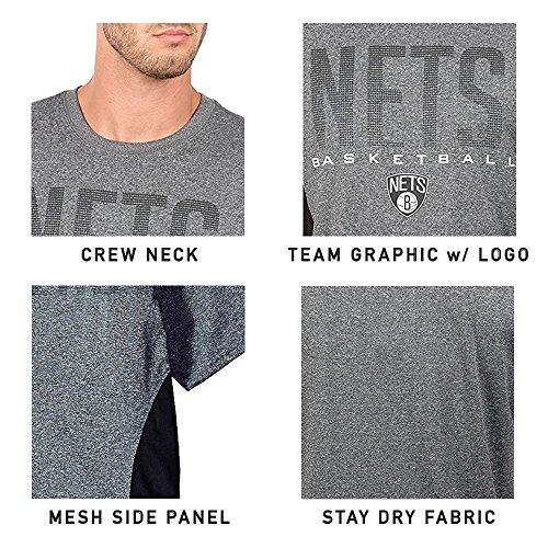 Ultra Game NBA - Camiseta activa para hombre, Negro, M