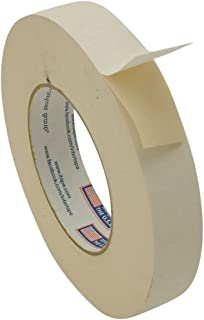 "Intertape 591/BEIG136 591 Double Sided Flat Back Paper Tape: 1"" x 36 yd, Beige"