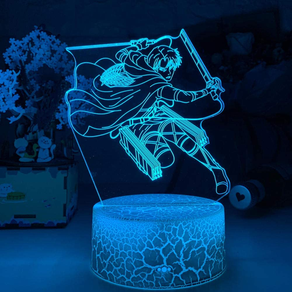 Acrylic 3D Lamp Levi Titan for Home Ranking TOP6 Gift Child Light Decor Room El Paso Mall