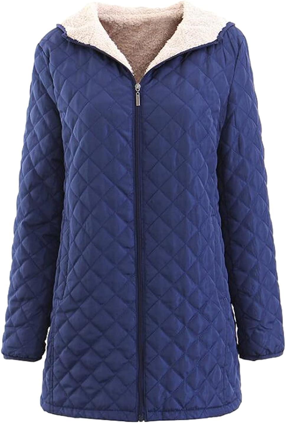 Xishiloft Women's Fleece Many popular brands Cotton Jacket Zipper Max 72% OFF Long Sleeve Hooded