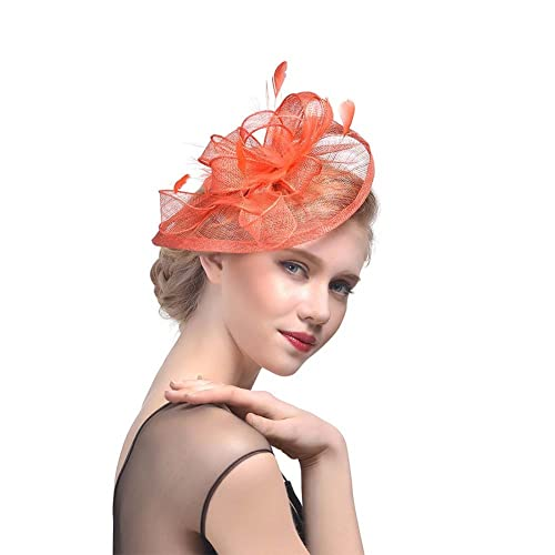8c2e78d376f83 JasmineLi Sinamay Fascinator Hat Tea Party Hats Pillbox Hat Derby Hat for  Women