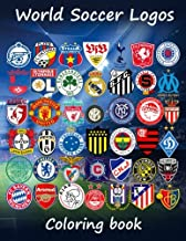 World Soccer Logos: World football team badges of the best clubs in the world, this coloring book is different as in the c...