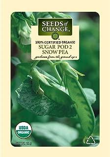 Seeds of Change Certified Organic Seed, Sugar Pod 2 Snow Pea
