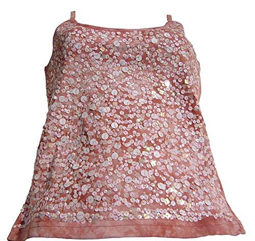 Damentop batik shirt Pailletten Damen TOP Trägertop Kurztop , 36