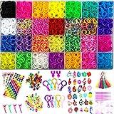 Yitohop 12000+ Rainbow Colorful Loom Bands, Premium Rubber Bands for Bracelet Making Kit DIY Band Bracelet Mega Refill Kit Girls Gift to Improve Imagination