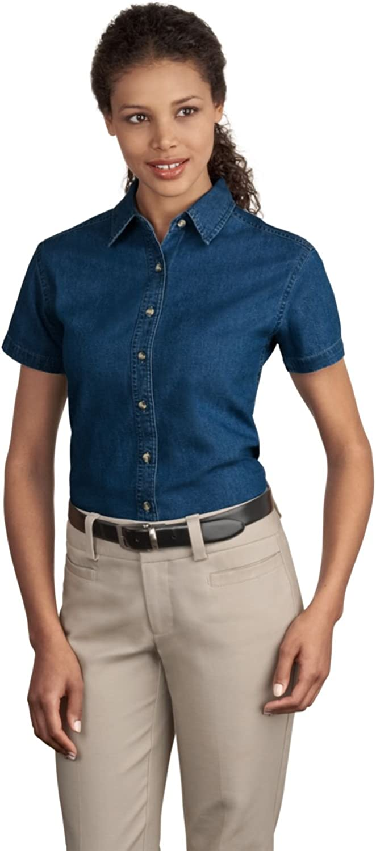 PORT AND COMPANY Short Sleeve Value Denim Shirt (LSP11)