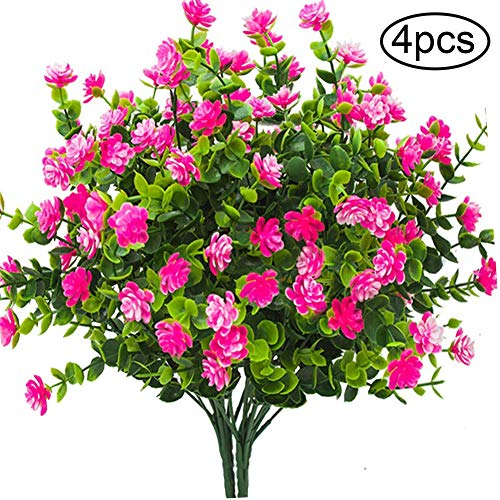 Mrinb Flores Artificiales Falsas, 4 Paquetes