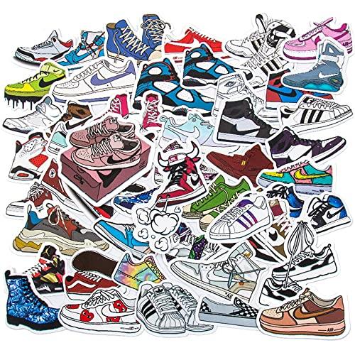 HENJIA 50PCS Fashion Brand Sneaker Chitarrista Trolley Bagaglio Adesivo Laptop Cartoon Graffiti Sticker