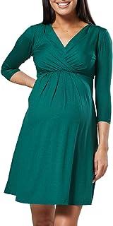 Turchese, One Size IT 40//42//44, One Size Happy Mama Donna Vestito pr/émaman in Maglia a Righe Multicolori 405p