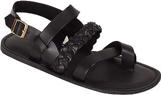 Vozno Men Black Slip On Casual Sandal