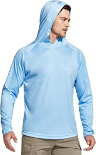 CQR Men's UPF 50+ Outdoor Long Sleeve Shirts, UV Sun Protection Loose-Fit Water T-Shirts, Performance Running Workout Shir...