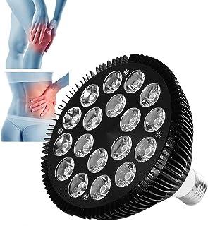 Lámpara de calor infrarroja de 54 W, lámpara de terapia de luz roja, lámpara de fisioterapia de luz roja 630-660NM El dispositivo de terapia de luz roja ofrece una herramienta para el cuidado del cuer