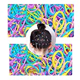 [500 piezas] trenza de cinta elástica para el cabello, banda elástica para el cabello SlickMart, adecuada para accesorios femeninos de cola de caballo con cabello rizado pesado (color)