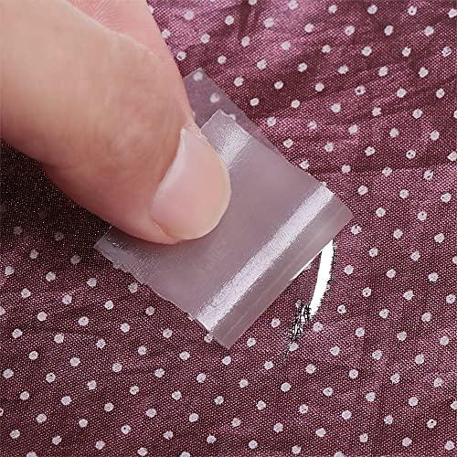 PMSMT 5 Piezas PVC Impermeable Transparente Autoadhesivo Nailon Adhesivo Parches de Tela Tienda al Aire Libre Chaqueta reparación Cinta Parche Accesorios