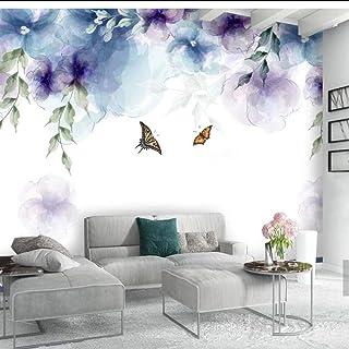 Papel pintado MRQXDP Papeles de pared europeos de flores de mariposas 3D vintage Imprimir murales de papel tapiz fotográfico para sala de estar Decoración de pared Pintura floral de la mano