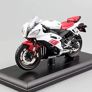 QLRL 1/18 Escala Niños Motocicleta Super Sport Competición Metal Die-Cast Bicicleta Modelo Motor Locomotora