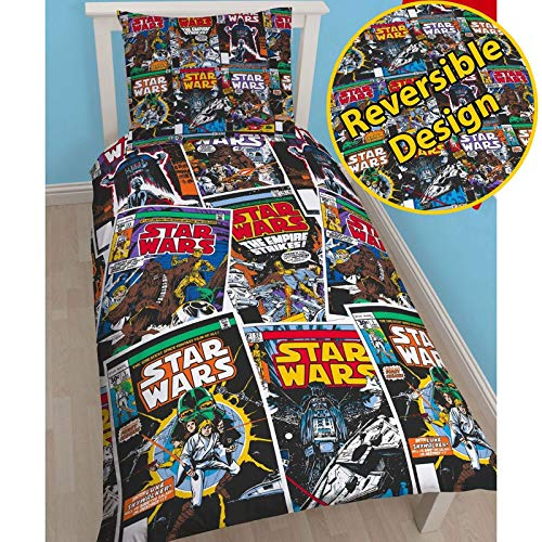 Star Wars Issue Comics Single Duvet Bed Set Reversible Design