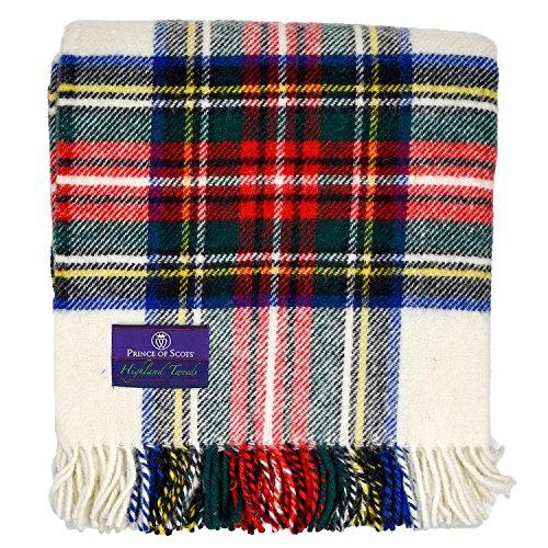 Prince of Schotten Highland Tartan Tweed 100% Schurwolle Überwurf, Wolle, Dress Stewart, Einheitsgröße