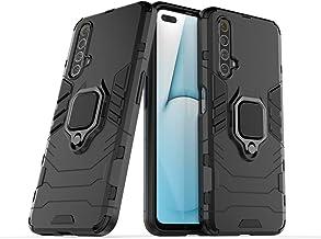 جراب Wuzixi لهاتف Realme X50 5G. قوي ومتين، مسند مدمج، مضاد للخدش، امتصاص الصدمات، متين، غطاء لهاتف Realme X50 5G. أسود