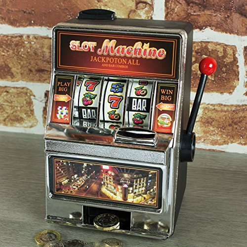 Global Gizmos 140.081cm Mini Arcade One Armed Bandit Slot Fruit Machine salvadanaio Toy