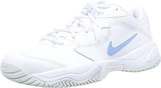 Nike Women's NikeCourt Lite 2 Tennis Shoe, White/Aluminum-Pure Platinum, 10 UK