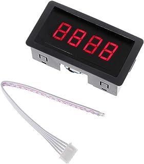 数位器 手掌用 デジタルカウンタDC LED 4桁0-9999上/ダウンプラス/マイナスパネルカウンターメーターケーブルDORP輸送