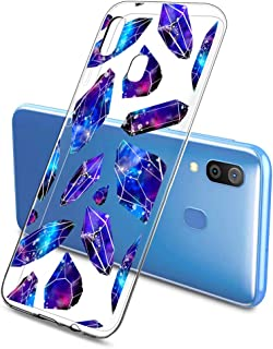 Oihxse Funda Dibujos Diamantes Brillantes Compatible Samsung Galaxy A50 Transparente Silicona TPU Bumper Case Ultra Delgad...