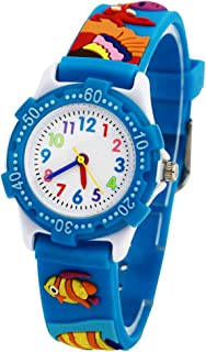 Children Watch 3D Silicone Band Cartoon Cute Kids Time Teacher Gift for Little Girls and Boys